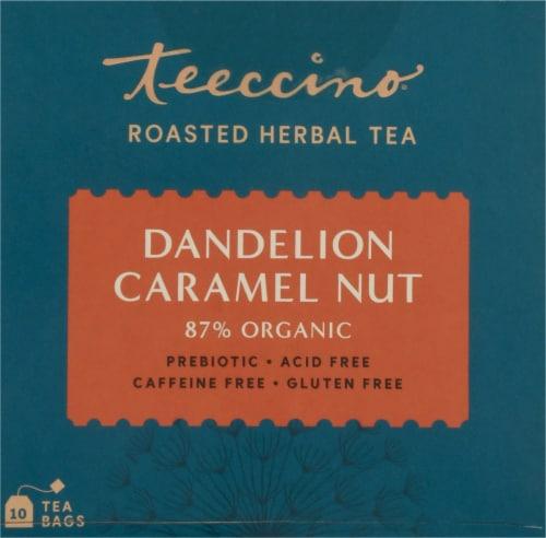 Teeccino® Dandelion Caramel Nut Tee Bags Perspective: top