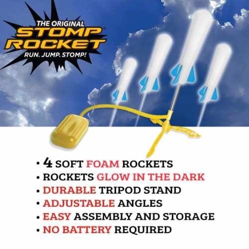 The Original Stomp Rocket Jr. Glow Rocket Perspective: top