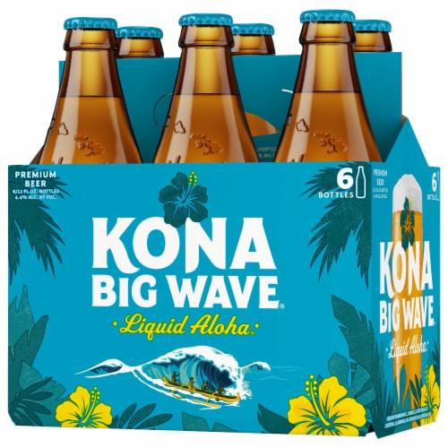 Kona Brewing Co. Big Wave Golden Ale Beer Perspective: top