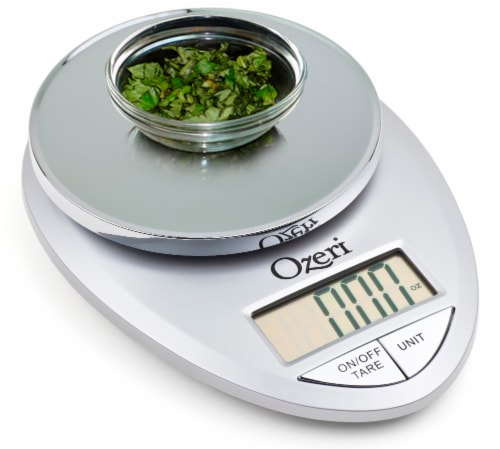 Ozeri Pro Digital Kitchen Food Scale, 0.05 oz to 12 lbs (1 gram to 5.4 kg) Perspective: top