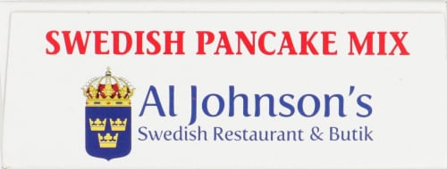 Al Johnson's Swedish Pancake Mix Perspective: top