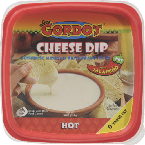 Gordo's Hot Mexican Resturant Style Cheese Dip Perspective: top