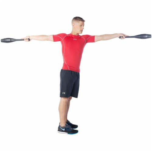 Ultimate Body Press IC-2 Strength Training Exercise Power Clubs, 2 Pound Pair Perspective: top