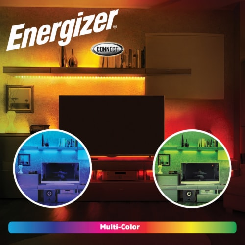 Energizer Connect EOS2-1001-WHT Smart Multicolor LED Light Strip, 16.4 Feet Perspective: top