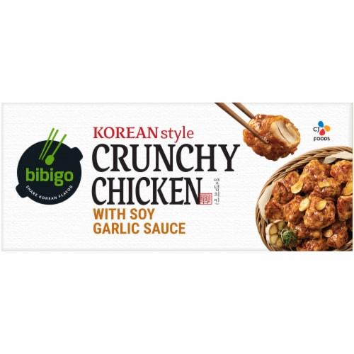 CJ Bibigo Korean-Style Soy Garlic Crunchy Chicken Perspective: top