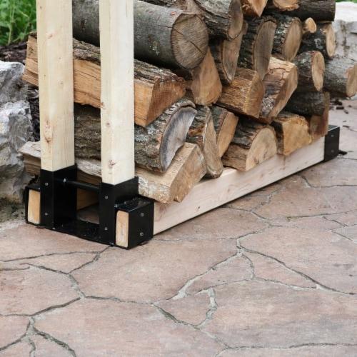 Sunnydaze DIY Log Rack Brackets Kit Steel Outdoor Adjustable Storage - Set of 3 Perspective: top