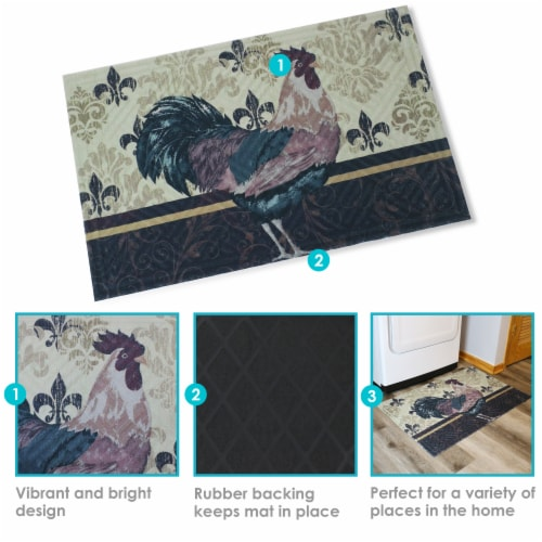 Sunnydaze Kitchen Floor Mat 23 Inches L X 35 W Brown Rooster 1 Unit S Fred Meyer