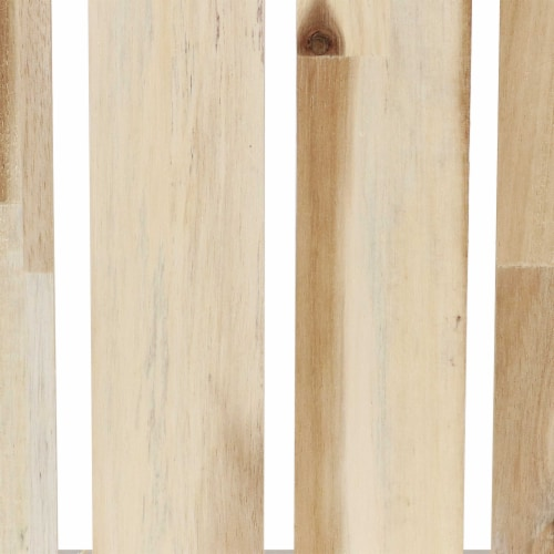 Sunnydaze Rectangle Acacia Wood Trays with Handles - Set of 3 Perspective: top