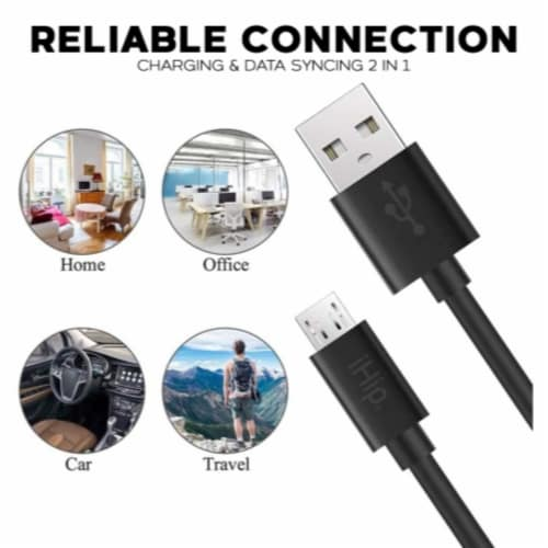 Ihip 6ft Micro Usb Charging Cable For Android Perspective: top