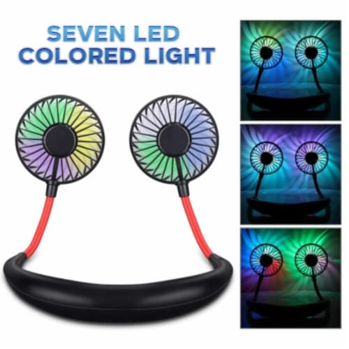 Ihip Wireless Earbuds Headphone With Led Neck Fan Perspective: top