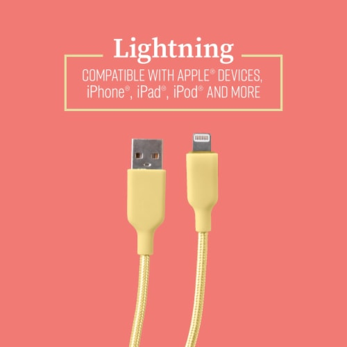 Mochic 6ft Lightning Braided Cable Perspective: top