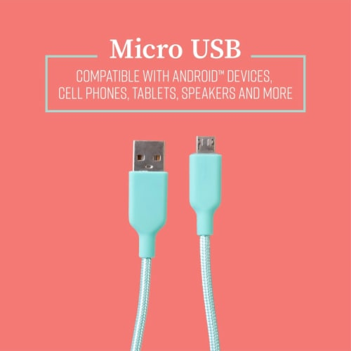 Mochic 6ft Micro Usb Cable Perspective: top