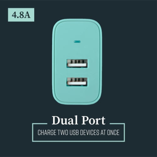 Mochic Wall Charger Dual Port Usb A 4.8a Perspective: top
