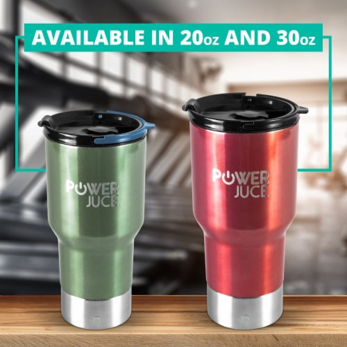 Portable Tumbler With Power Bank Perspective: top