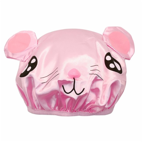 Wrapables Fun Double Layer Waterproof Shower Caps for Kids (Set of 2), Animal Ears Perspective: top