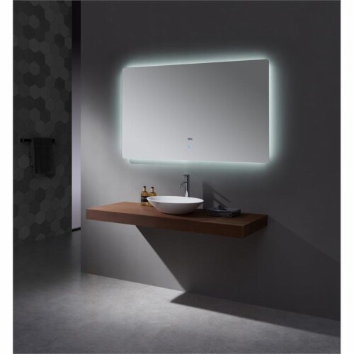 Lexora Home Lugano 60  x 36  LED Mirror with Defogger Perspective: top