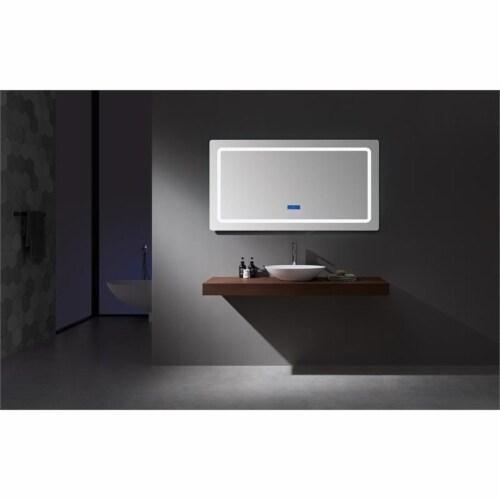 Lexora Home Caldona 60  x 32  LED Mirror with Defogger Perspective: top