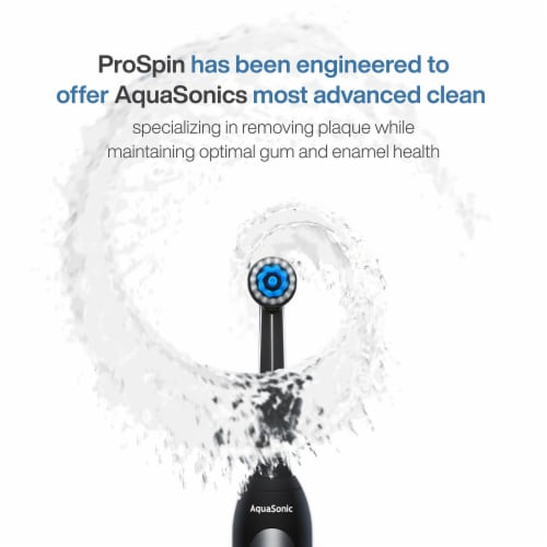 AquaSonic ProSpin – Ultra Whitening & Plaque Removing Electric Toothbrush Perspective: top