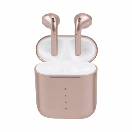 Airplus Wireless Bluetooth Earphones with Accessories Bundle - Rose Gold Perspective: top