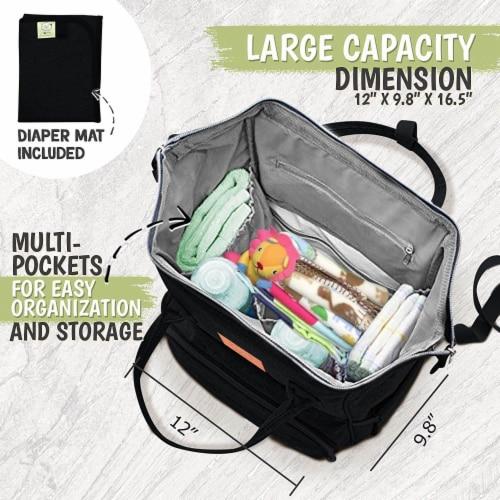 Original Diaper Backpack (Trendy Black) Perspective: top