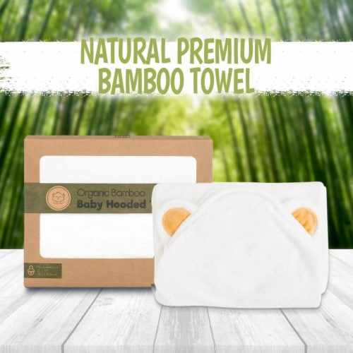 Bamboo Hooded Towel (Bear) Perspective: top