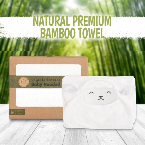 Bamboo Hooded Towel (Lamb) Perspective: top