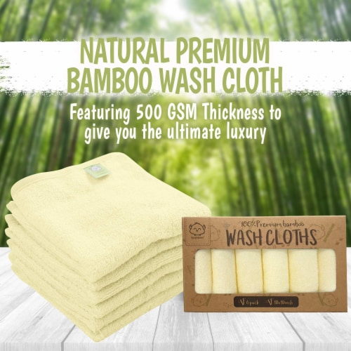 Deluxe Baby Bamboo Washcloths (Sunshine) Perspective: top