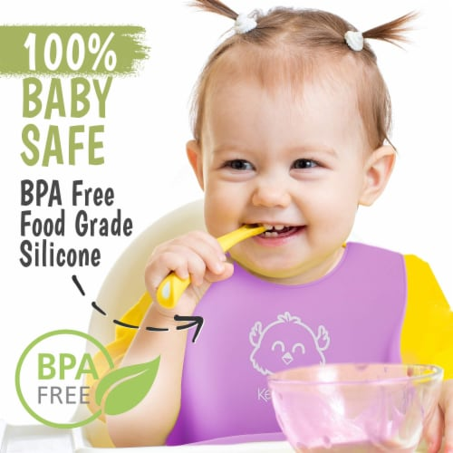Silicone Bibs (Cotton Candy) Perspective: top