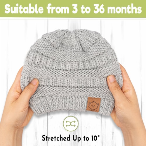 3-Pack Warmzy Baby Beanies (Sweet Pea) Perspective: top