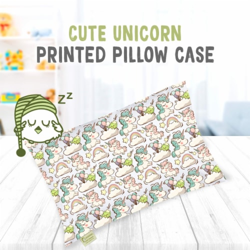 "Printed Toddler Pillowcase 13X18"" (Unicorn Dreams) Perspective: top"