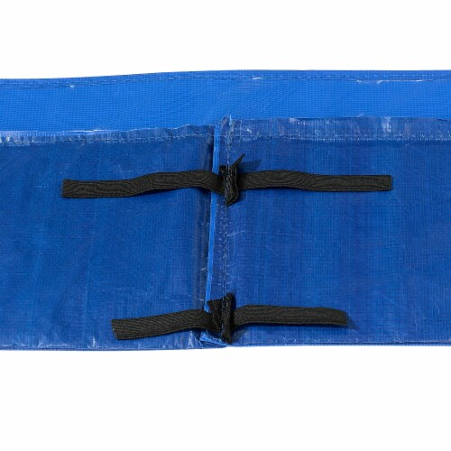 Super Spring Cover - Safety Pad, Fits 8 X 14 FT Rectangular Trampoline Frame - Blue Perspective: top