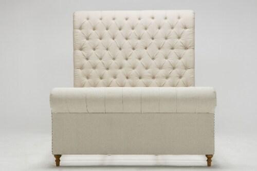 Manhattan Comfort Empire Cream Queen Bed Perspective: top