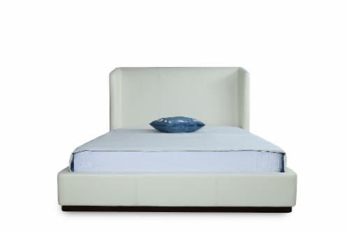 Manhattan Comfort Lenyx Cream Full Bed Perspective: top