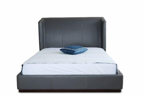 Manhattan Comfort Lenyx Graphite Full Bed Perspective: top