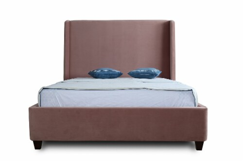Manhattan Comfort Parlay Blush Queen Bed Perspective: top