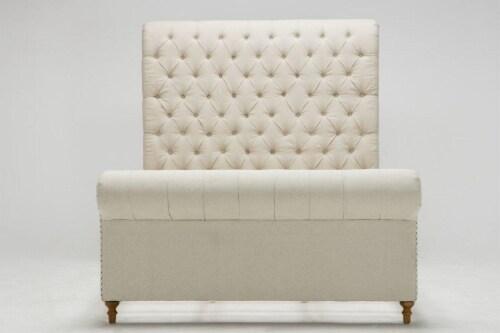 Manhattan Comfort Empire Cream Full Bed Perspective: top