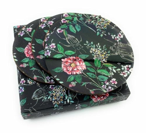 Vibhsa Designer Wild Bug Tea Coasters Perspective: top