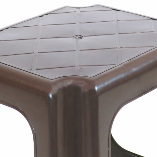 Sunnydaze Brown Plastic Step Stool - Set of 2 - 260-Pound Capacity - 16-Inch Perspective: top