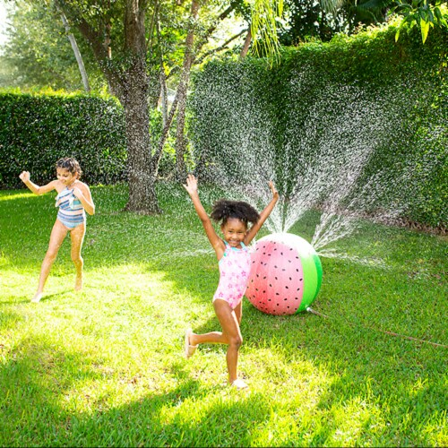 PoolCandy Giant Inflatable Watermelon Sprinkler Perspective: top