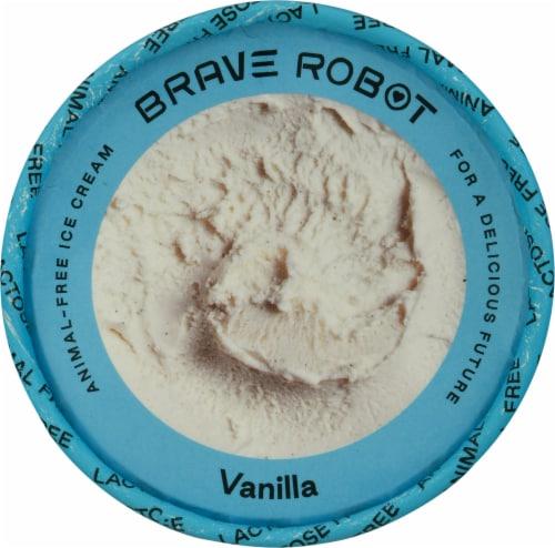 Brave Robot Vanilla Animal-Free Ice Cream Perspective: top