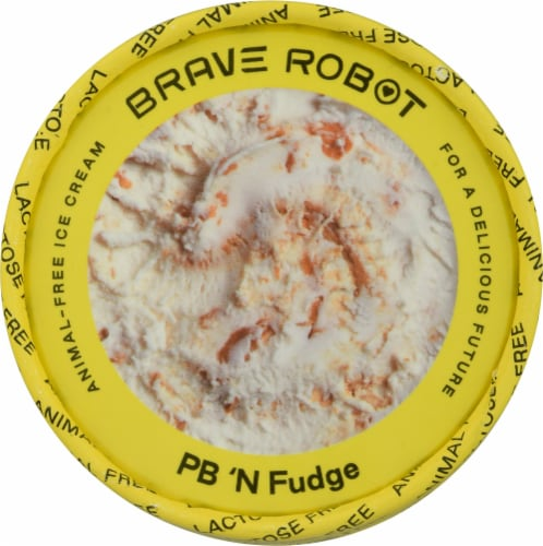 Brave Robot PB 'N Fudge Animal-Free Ice Cream Perspective: top