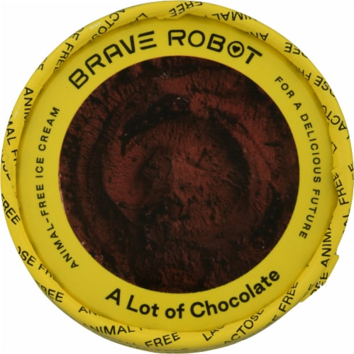 Brave Robot A Lot of Chocolate Animal-Free Ice Cream Perspective: top
