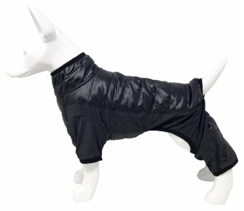 Pet Life Aura-Vent Lightweight 4-Season Quick-Dry Full Body Dog Jacket, X-Large, Black Perspective: top