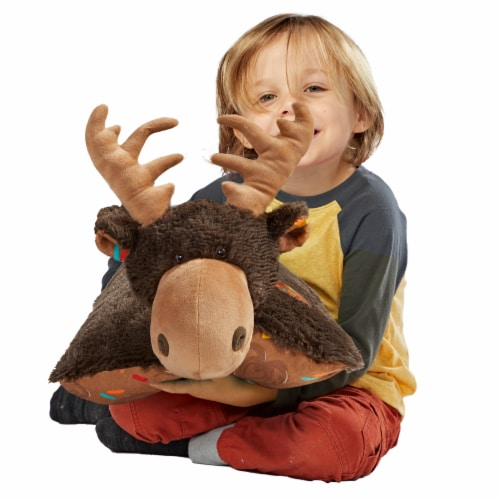 Pillow Pets Sweet Chocolate Scented Moose Plush Toy Perspective: top