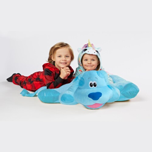 Pillow Pets Jumboz Nickelodeon Blue's Clues Blue Plush Toy Perspective: top