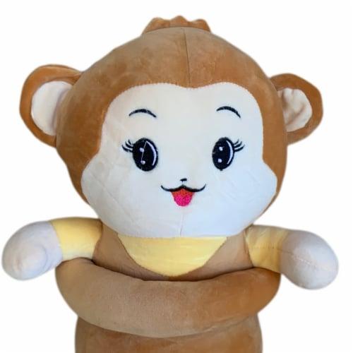 Monkey Plush Pillow | Swiss Jasmine Plushies | Stuffed Monkey Plush | Sleep Pillow 35 Inches Perspective: top
