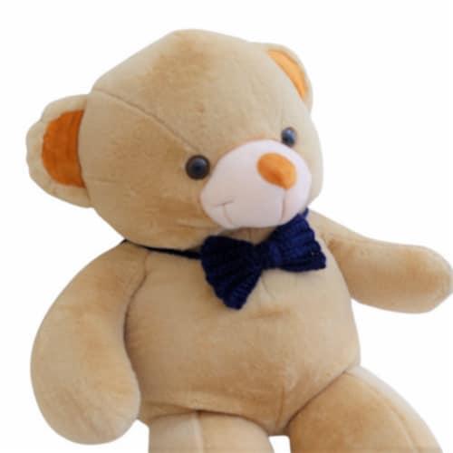 Teddy Bear | Crochet Bowtie Stuffed Animal | Swiss Jasmine® Plushies | 32 Inches Brown Perspective: top