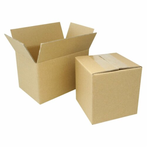 EcoSwift 5 x 4 x 4 Inch Corrugated Cardboard Packing Boxes for Moving (100 Pack) Perspective: top