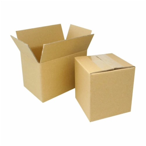 EcoSwift 5 x 5 x 5 Inch Corrugated Cardboard Packing Boxes for Moving (100 Pack) Perspective: top
