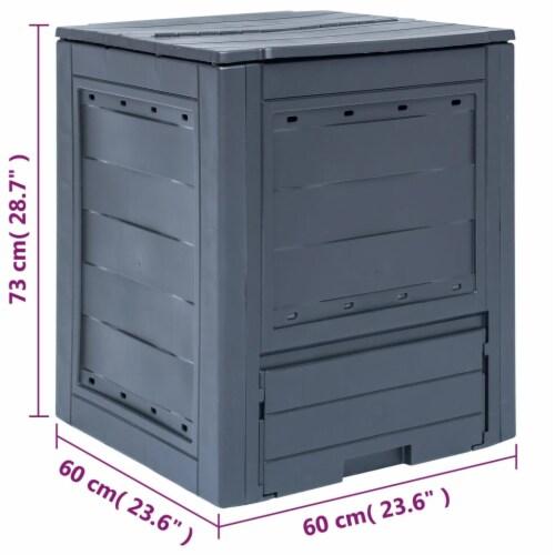 "vidaXL Garden Composter Gray 23.6""x23.6""x28.7"" 68.7 gal Perspective: top"